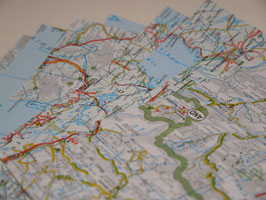 Origamipapier Landkarte 15x15cm 20 Blatt