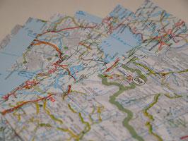 Origamipapier Landkarte 20x20cm