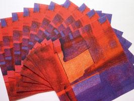 Origamipapier bunt Rot-Orange-Lila