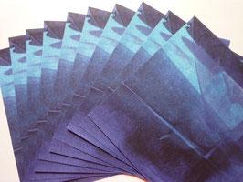Origamipapier bunt Blau-Türkis