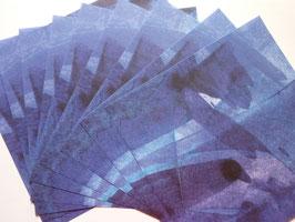 Origamipapier bunt Blau-Lila-Türkis