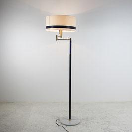 Lampadaire en marbre et laiton, 1970