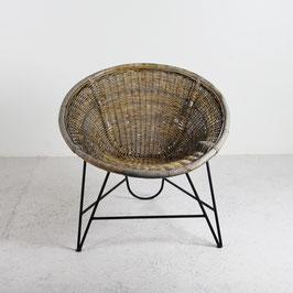 Fauteuil en rotin, 1960