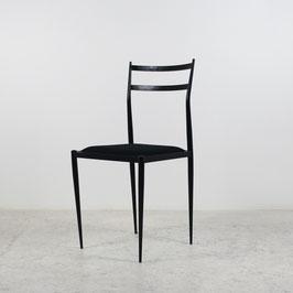 Paire de chaises en métal noir, 1960