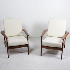 Paire de fauteuils en acajou, 1960