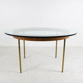 Table basse en verre et bois de rose, 1960