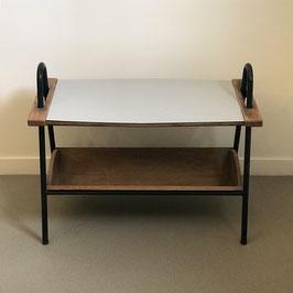 Table en bois et mélaminé avec plateau amovible, 1950