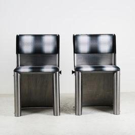 Paire de chaises en métal chromé, 1970