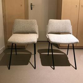 Paire de chaises en tissu, 1950