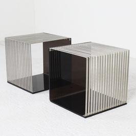 Bouts de canapé en Plexiglas et métal chromé, 1970