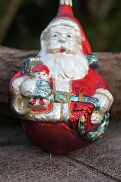 Weihnachtsmann Matt Dick 10 cm