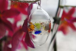 Kristall-Glas Hängeei 7 cm