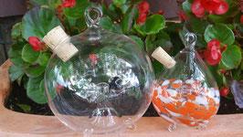 Wespenfalle rund aus feinem Kristallglas zum Hängen oder Stellen