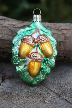 Eichelblatt mit Eicheln 5 cm