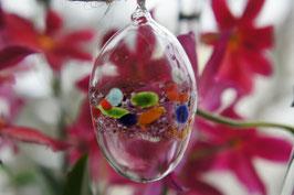 Kristall-Glas Hängeei 9 cm