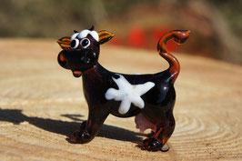 Muh die Kuh 5 cm Dunkelbraun/Weiß