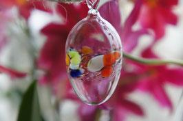 Kristall-Glas Hängeei 8 cm