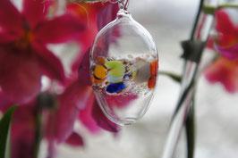 Kristall-Glas Hängeei 6 cm