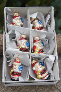 Miniatur Weihnachtsmännchen Rot/Gold/Blau