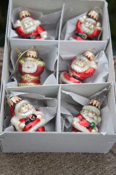 Miniatur Weihnachtsmännchen Rot/Gold