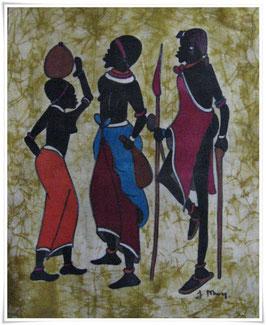 Batikbild * Wanawake Kushoto*  Afrika
