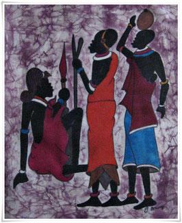 Batikbild *Wamume kitako*  Afrika