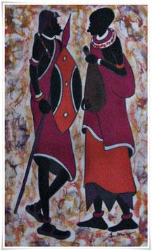 Batikbild *Wajozi Kadha*  Afrika