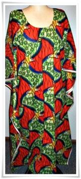 Kaftan/Kleid Set *Nyota Chungwa* WaxPrint, Gr. L Afrika