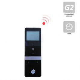 Heicko 15-Kanal Handfunksender mit Display, inkl. Batterie, 433,92 MHz, schwarz, Funkprotokoll G2