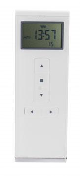 Heicko 15-Kanal Handfunksender mit Display, inkl. Batterie, 433,92 MHz, Timerfunktion, weiß