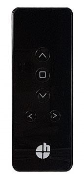 Heicko 5-Kanal Handfunksender, inkl. Batterie, 433,92 MHz, schwarz