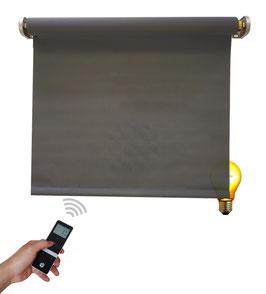 Elektrisches Beschattungsrollo, inkl. Akku-Motor, Farbcode: 3C106, grau, 5% Gewebe-Öffnungsrate