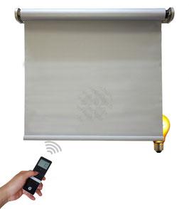 Elektrisches Verdunkelungsrollo, inkl. Motor, Farbcode: SL50033, grau/silber, 0% Gewebe-Öffnungsrate