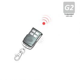 Heicko 4-Kanal Mini-Handfunksender als Schlüsselanhänger, inkl. Batterie, 433,92 MHz