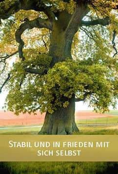 """Karte """"Stabil und in Frieden mit sich selbst"""""""