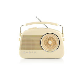 Nedis DAB+ Radio | 5,4 W | UKW | Tragegriff | Beige