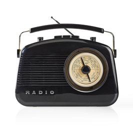 Nedis UKW-Radio | 5,4 W | Bluetooth® | Tragegriff | Schwarz