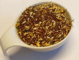 Fühl Dich entspannt,                                                           natürlich aromatisierte Rooibusch-                             Tee Kräutermischung