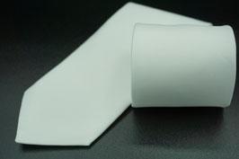 Krawatte einfarbig weiß / für Schützengruppe, Spielmannszug, Tambourcorps, Fanfarencorps