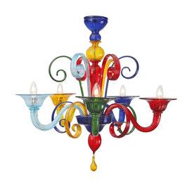 Multicolor  lampadario in vetro di Murano moderno colorato