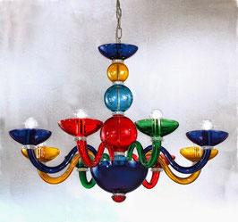 Bubble: Lampadario  di Murano colorato a forme sferiche