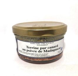 Terrine pur Canard au poivre de madagascar 120g
