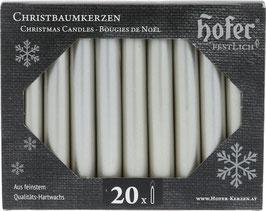 Christmas Candles, non drip, metallic platinum