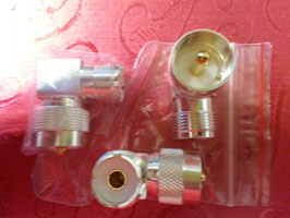 Silver plated right angle UHF connector