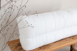 Nackenstützkissen, Ergo 40 cm x 80 cm , Jekatex, Füllung: Comforel® Hohlfaser, Bezug: Baumwolle, (1-tlg), Zertifiziert durch die Aktion gesunder Rücken (AGR) e.V.