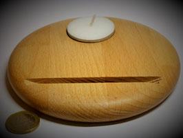 Holzständer (Buche) mit Teelicht Durchm. ca. 13cm