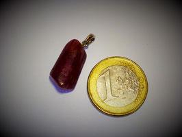 Turmalin rot (Rubellit) / Anhänger Silberöse