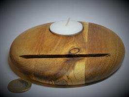 Holzständer (Akazie) mit Teelicht Durchm. ca. 13cm
