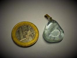 Topas blau (Anhänger Silberöse)