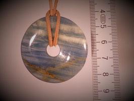 Aragonit blau (Donut 40mm)